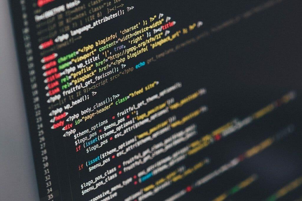 プログラミングのコード画面